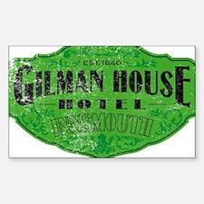 GILMAN HOUSE HOTEL Sticker (Rectangle)