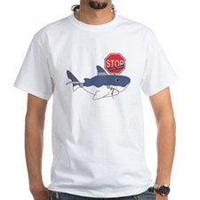 sos mascot white shark white Shirt