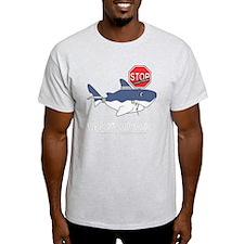 sos mascot white shark white T-Shirt