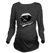 Honey Badger Design Long Sleeve Maternity T-Shirt