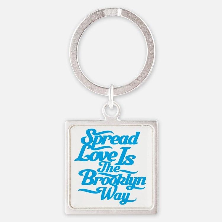 brooklynspreadloveBLUE Square Keychain