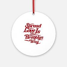 brooklynspreadloveRED Round Ornament