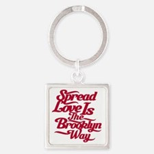 brooklynspreadloveRED Square Keychain