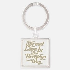 brooklynspreadloveTAN Square Keychain
