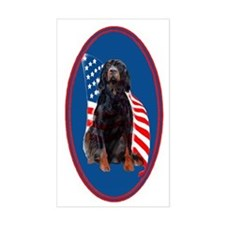 gordon setter with flag2 Bumper Stickers