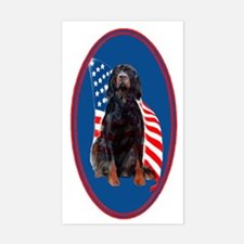 gordon setter with flag2 Decal