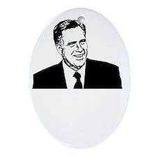 Romney2012Bk Oval Ornament