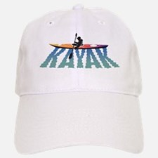 kayak ripple wht Baseball Baseball Cap
