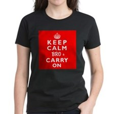 KEEP CALM BRO & CARRY ON -wr- Tee
