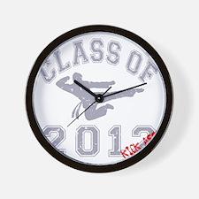 Class Of 2012 Kick Ass - Grey 2 D Wall Clock