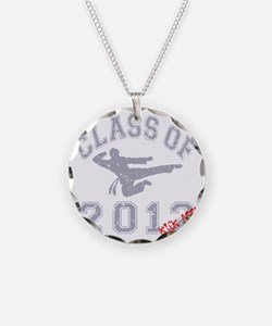 Class Of 2012 Kick Ass - Gre Necklace Circle Charm