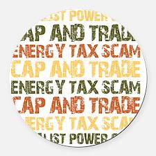 september_energy_tax_scam Round Car Magnet
