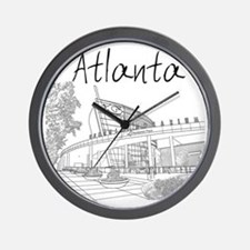 Atlanta_10x10_GeorgiaAqarium_Black Wall Clock