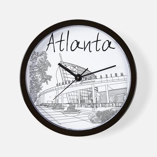 Atlanta_10x10_GeorgiaAqarium_Black Wall Clock