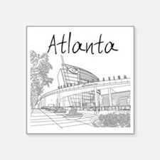"Atlanta_10x10_GeorgiaAqariu Square Sticker 3"" x 3"""