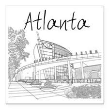"Atlanta_10x10_GeorgiaAqa Square Car Magnet 3"" x 3"""