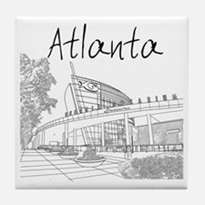 Atlanta_10x10_GeorgiaAqarium_Black Tile Coaster