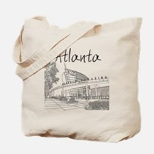Atlanta_10x10_GeorgiaAqarium_Black Tote Bag