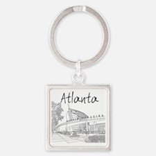 Atlanta_10x10_GeorgiaAqarium_Black Square Keychain