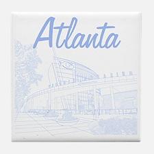 Atlanta_10x10_GeorgiaAqarium_LightBlu Tile Coaster