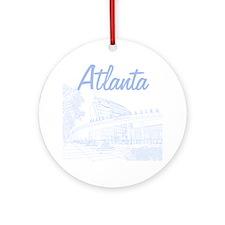 Atlanta_10x10_GeorgiaAqarium_LightB Round Ornament