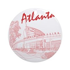 Atlanta_10x10_GeorgiaAqarium_Red Round Ornament