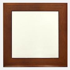 pedal pusher white Framed Tile