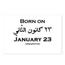 January 23 Birthday Arabic Postcards (Package of 8