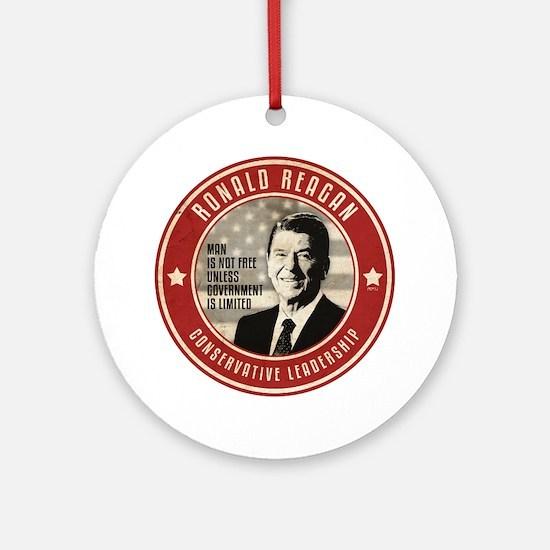july11_reagan_conservative Round Ornament