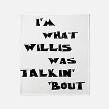 willis5 Throw Blanket