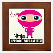 Girl-Ninja Framed Tile