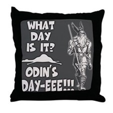 Odin's Day Throw Pillow