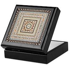 Earthtone Squares Tile Keepsake Box