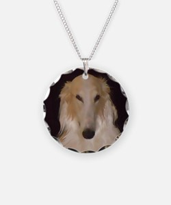 Borzoi Painting Necklace