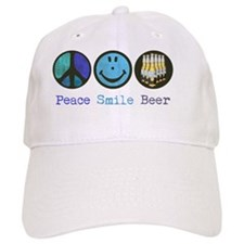 peace_smile_beer_mug Baseball Cap