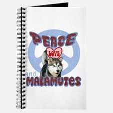 PEACE LOVE and MALAMUTES Journal