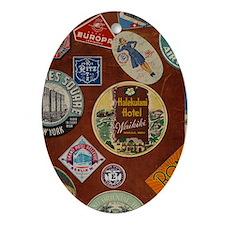 luggage_temp_ipad2_folio_cover Oval Ornament