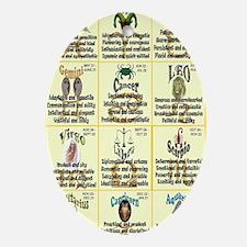 zodiac-journal Oval Ornament