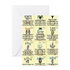 zodiac-journal Greeting Card