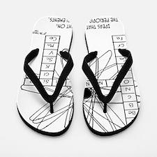 2172_chemistry_cartoon Flip Flops