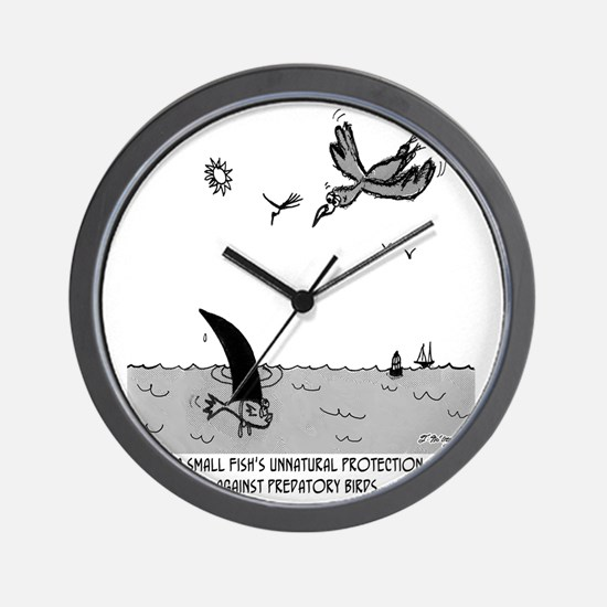 2100_fish_cartoon Wall Clock