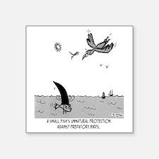 "2100_fish_cartoon Square Sticker 3"" x 3"""
