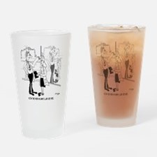 8711_woman_cartoon Drinking Glass