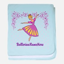 Personalize Your Purple Ballerina! baby blanket