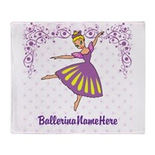 Personalize Your Purple Ballerina! Throw Blanket