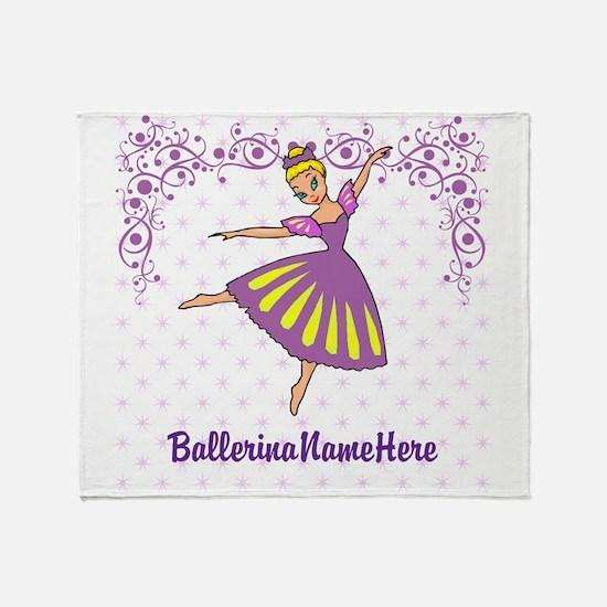Personalize Your Purple Ballerina! Throw Blanket