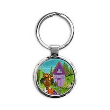 house copy Round Keychain