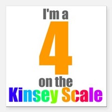 "kinsey-4 Square Car Magnet 3"" x 3"""