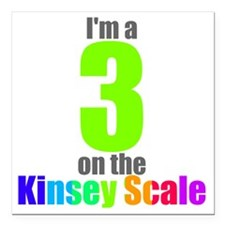 "kinsey-3 Square Car Magnet 3"" x 3"""