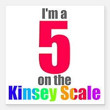 "kinsey-5 Square Car Magnet 3"" x 3"""